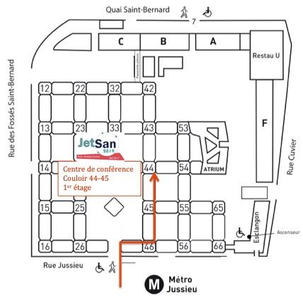Plan campus Jussieu - Jetsan 2019